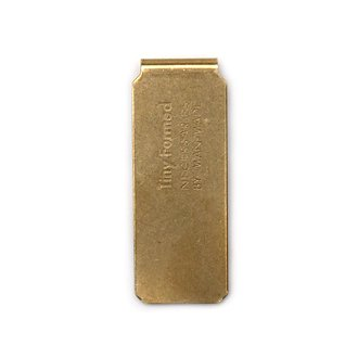 Tiny Formed「Tiny metal money clip」Brass