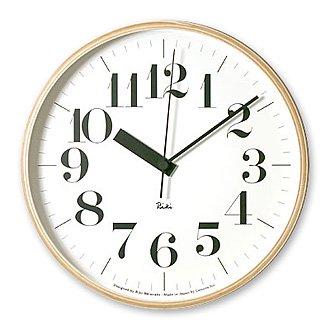 Lemnos「Riki Clock RC」太字 電波時計 Mサイズ