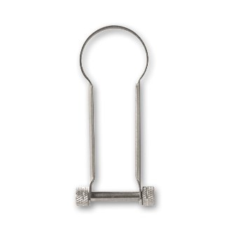 CANDY DESIGN & WORKS「ROMAN」SHACKLE KEY RING / Nickel