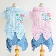 フラワー刺繍ロンパース