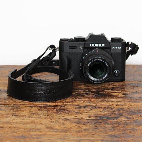 オールレザーカメラストラップ BLACK×BLACK