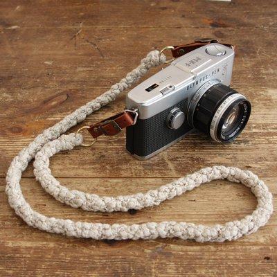 リネン編みこみカメラストラップ