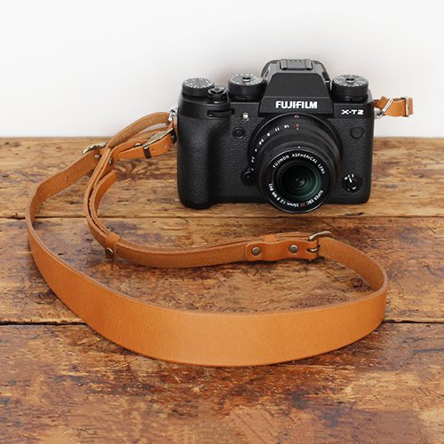 一枚革カメラストラップ(ヌメ革)全3色