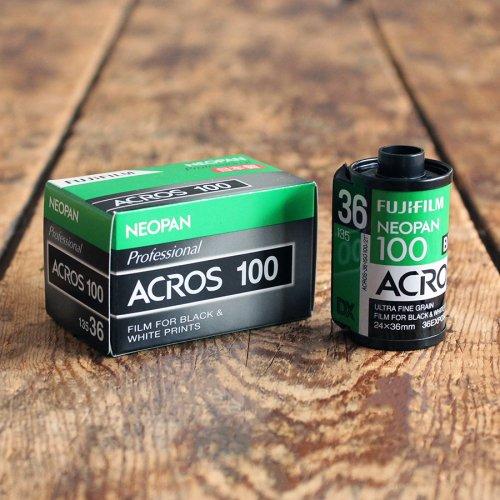 35mmモノクロフィルム「富士フイルム ACROS 100」