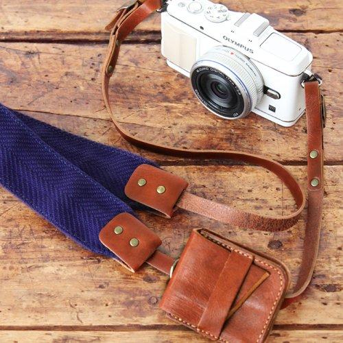 【30%OFF】カメラピープル×「旅」コラボ カメラストラップ(全4色)※ミニケース別売