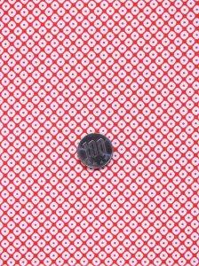 洗える長襦袢反物 No.1  赤白地・鹿の子柄