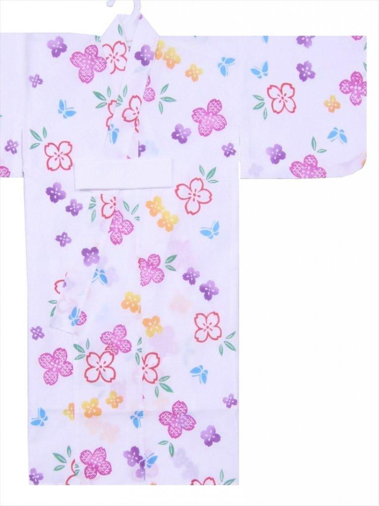 ベビー浴衣(日本製)1,2才 SY-1 白地・あじさい柄