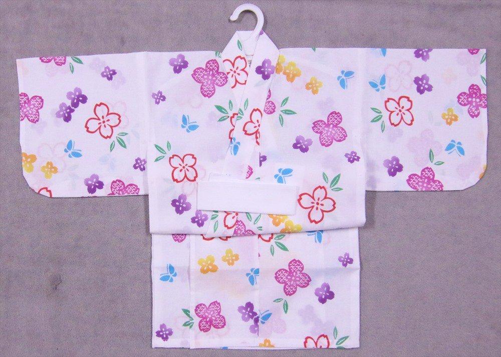 ベビー浴衣(日本製)1,2才 SY-1 白地・あじさい柄(1)