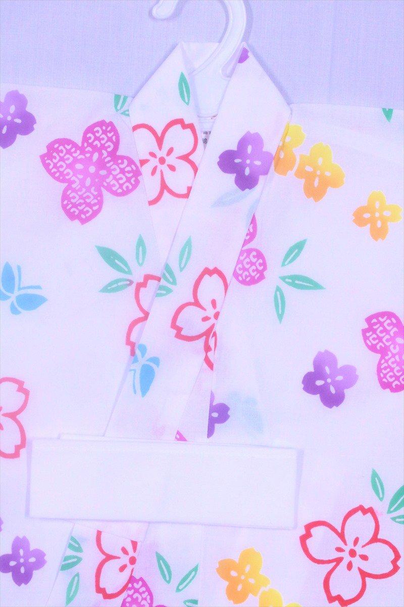 ベビー浴衣(日本製)1,2才 SY-1 白地・あじさい柄(2)