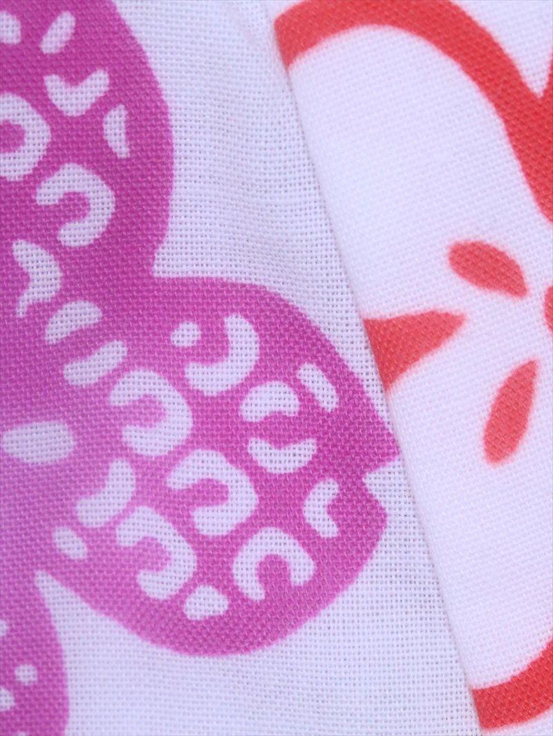 ベビー浴衣(日本製)1,2才 SY-1 白地・あじさい柄(3)