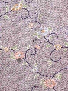 染めウール反物 No.53 紫鹿の子、花柄