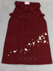 袴 通販 No.11 エンジ地・桜刺繍柄・М寸
