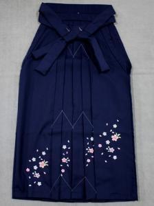 卒業式袴 No.13 濃紺地・桜柄・91cm М寸