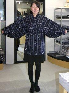 ヒッパリ 通販 No.40 濃紺地・カスリ調・琉球シマ柄