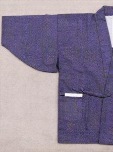 ウールうわっぱり No.37 紺紫地・ドット霜降り柄