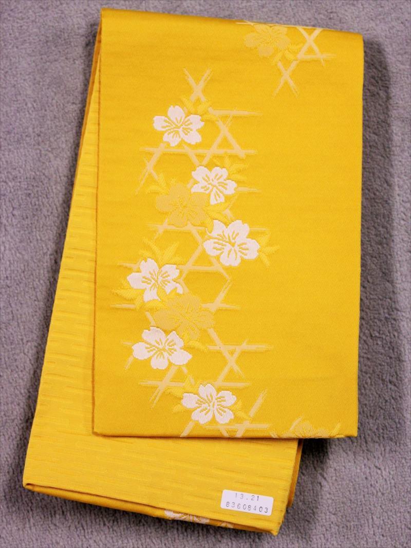 浴衣帯 No.56  桜柄・黄色地(2)