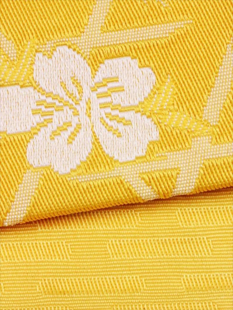 浴衣帯 No.56  桜柄・黄色地(3)