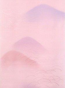 長襦袢 No.12 カラシ地・枝垂れ桜柄