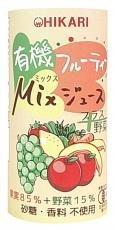 ヒカリ 有機フルーティーMixジュース+野菜