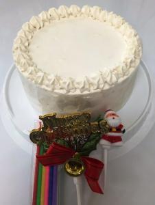 アレルギー対応ケーキ 卵・乳製品・小麦不使用 クリスマス仕様ホワイトデコレーションホール型 (冷凍・セール対象…