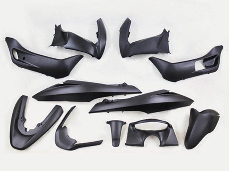 PCX (JF28/KF12) 純正タイプ 外装カウル 艶消し 黒 11点セット