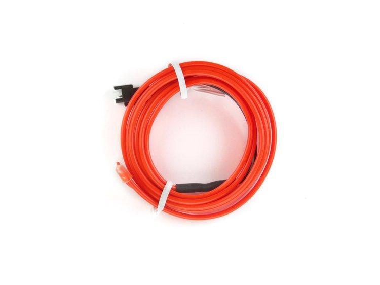 ELネオンワイヤー(フィン付き) 内装/外装 直径2.3mm 1M 赤 12V
