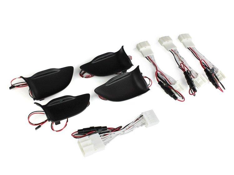 送料無料 レクサスNX インサイド ドアハンドルイルミネーション LEDイルミ インナーハンドル 内装パーツ 白