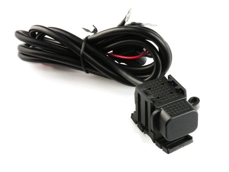 バイク用 USB充電器 USBポート 携帯等充電 蓋付き 防水防塵 ヒューズ付き 12V/24V