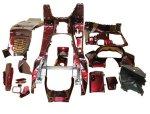 マジェスティ 250C SG03J 5連メーター用 スクーター インナー カウル 塗装済 内装 ワインレッド 15点セット MAJESTY250
