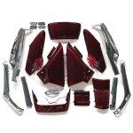 ホンダ フュージョン MF02 ワインレッド 外装 アッパカウル + メッキ アンダーカウル セット