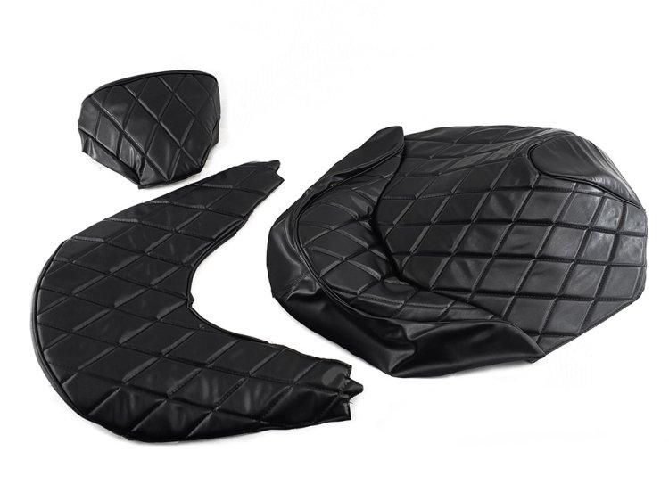 ホンダ FORZA フォルツァMF08 ダイヤカット張替シートカバー 黒(艶なし)