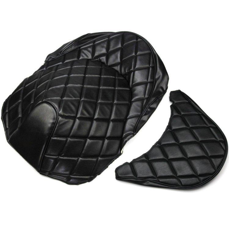 ホンダ フォルツァ MF10用 ダイヤカット艶なし張替えシートカバー色:黒