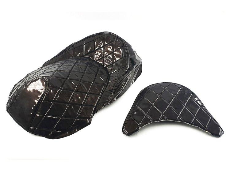 ホンダ フォルツァMF10 エナメル ダイヤカット 張替えシートカバー 茶色