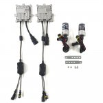 H4-Lo 35W 8000K HIDキット 2灯切替式 2灯分 12V仕様 交換用バルブ ヘッドライト フォークランプ等に 薄型<img class='new_mark_img2' src='https://img.shop-pro.jp/img/new/icons15.gif' style='border:none;display:inline;margin:0px;padding:0px;width:auto;' />