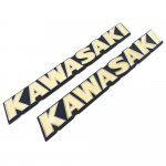 KAWASAKI カワサキ ゼファー750/1100用 立体 エンブレム ベージュ色 2枚セット<img class='new_mark_img2' src='https://img.shop-pro.jp/img/new/icons15.gif' style='border:none;display:inline;margin:0px;padding:0px;width:auto;' />