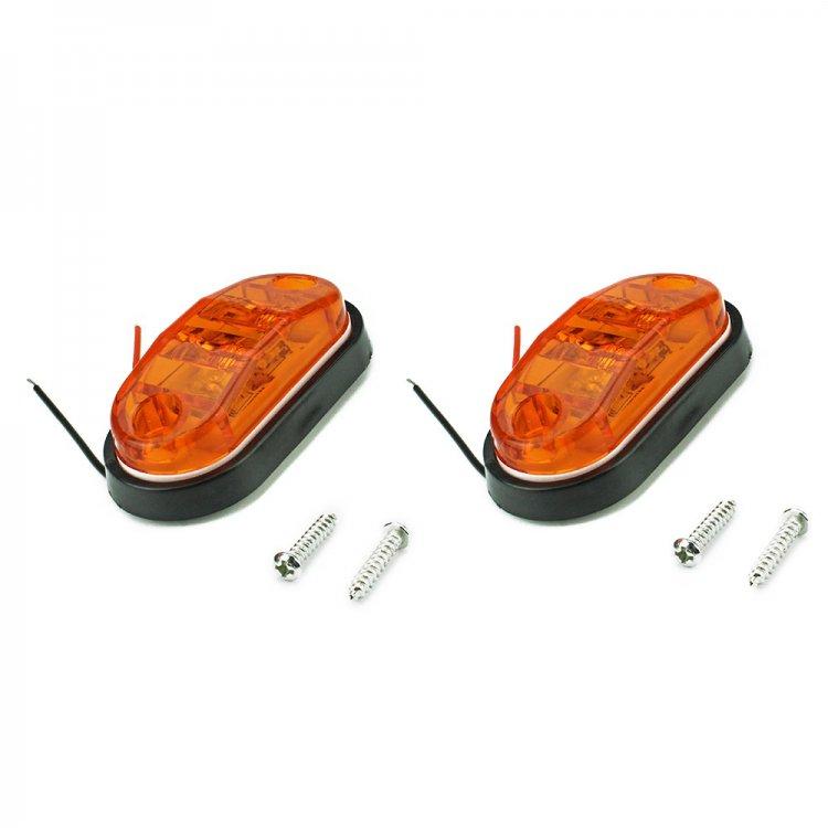 汎用 LEDサイドマーカー 12V24V トラック バス用 2個セット