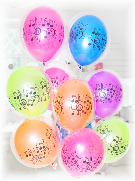 クリアバルーン10個セットメロディー【ピアノ発表会・エレクトーン発表会・バレエ発表会】