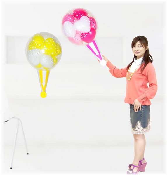 (パーティーグッズ・バルーン電報)クラッカーバルーン10( 2球セット )ピンク・イエロー