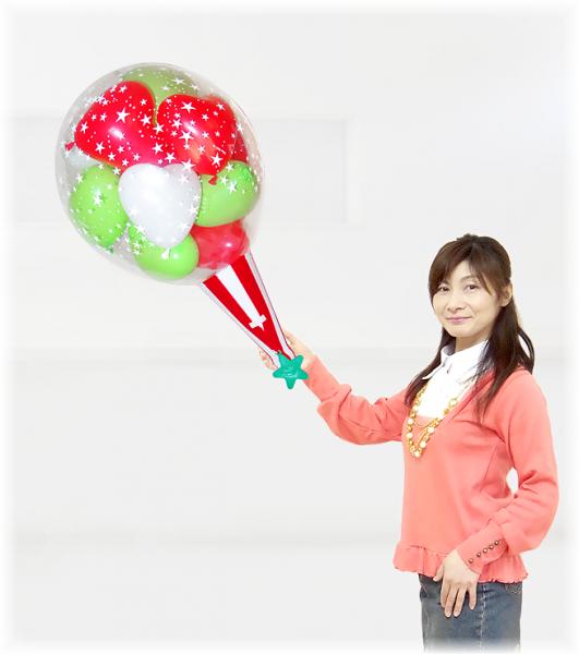 クラッカーバルーン15クリスマスバージョン!【クリスマスプレゼント・クリスマスバルーン・クリスマス風…