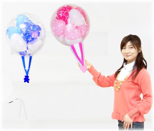(バルーンギフト・バルーン電報)クラッカーバルーン10( 2球セット )ピンク・ブルー