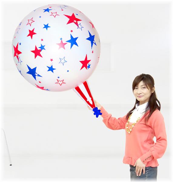 (パーティーグッズ・誕生日サプライズ・プレゼント)クラッカーバルーン50ホワイトスター
