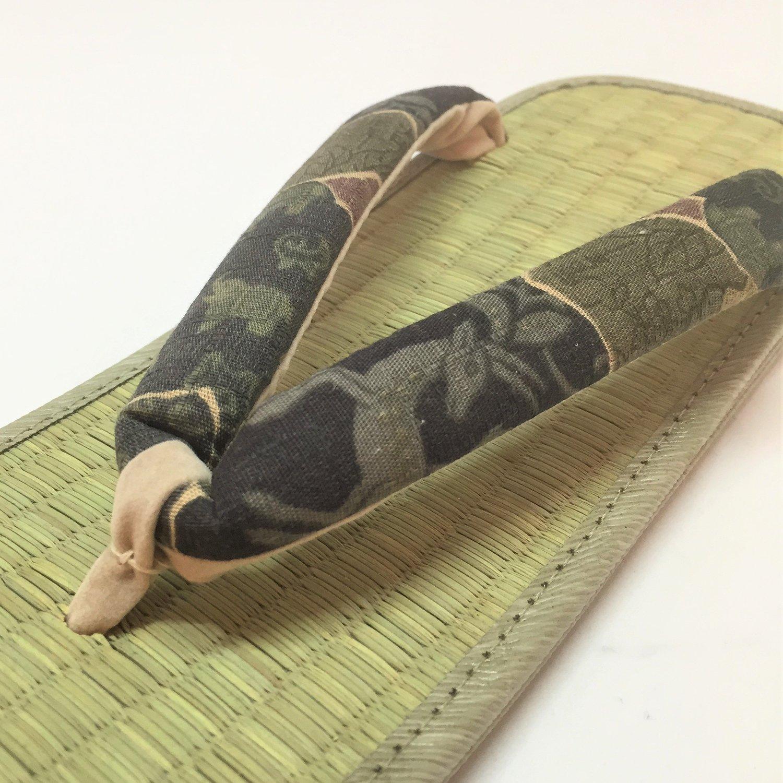 ★LLサイズ夏の特価品★お手軽畳表雪駄 歌舞伎緑