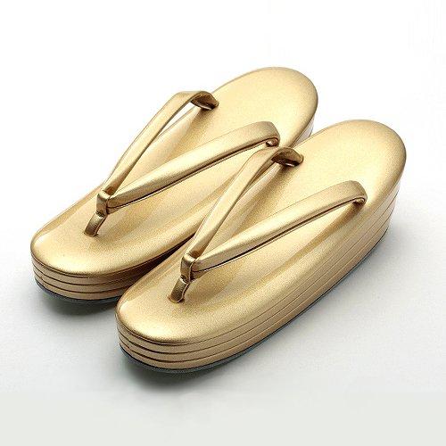 高級草履 五分三枚 黄金
