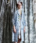 Tulips embroidery coat (BLUE)