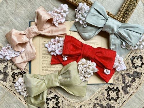 【Belle des poupee】リボンとすみれのヘッドドレス(ワイヤー入り)