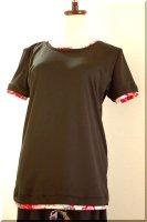 ★受注作製★和柄・シンプル重ね着風半袖Tシャツ☆レディースS〜5L