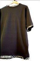 ★受注作製★和柄・シンプル重ね着風半袖Tシャツ☆メンズS〜5L
