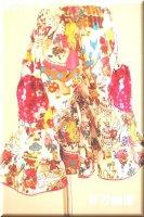 ★一点物・受注作製★和柄・ティアード,ガウチョパンツ☆レディースS〜5L