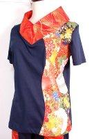 ★一点物・受注作製★和柄・着物襟風Tシャツ長袖・半袖☆レディースS〜5L