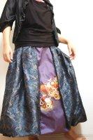和柄2WAYバルーンスカート&ワンピース/いぶし銀パープル